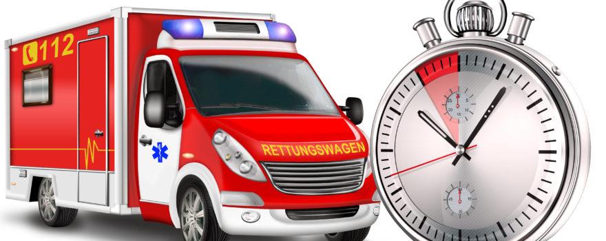 Rettungswagen und Zeit, Stoppuhr