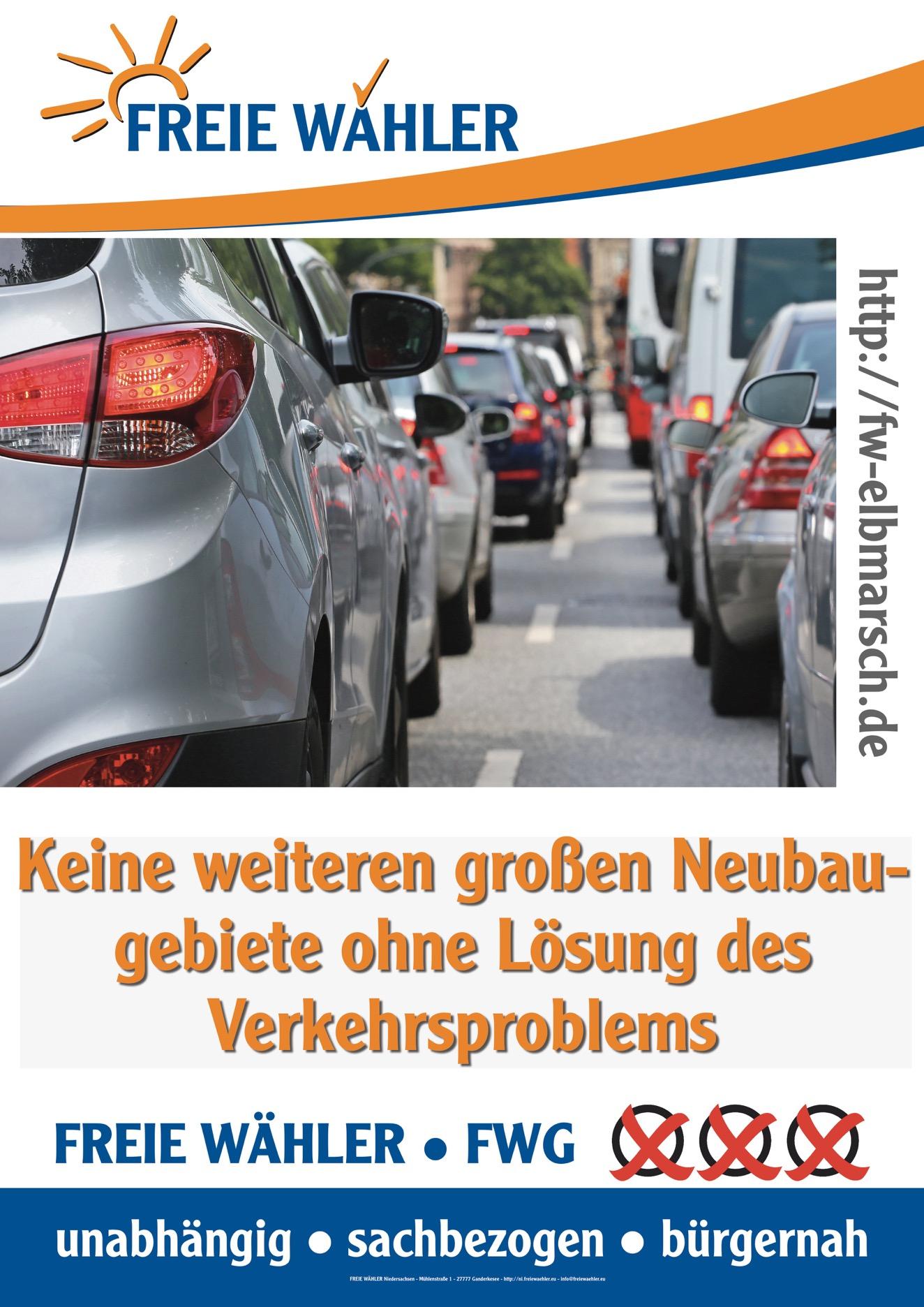 Keine weiteren Neubaugebiete ohne Lösung des Verkehrsproblems