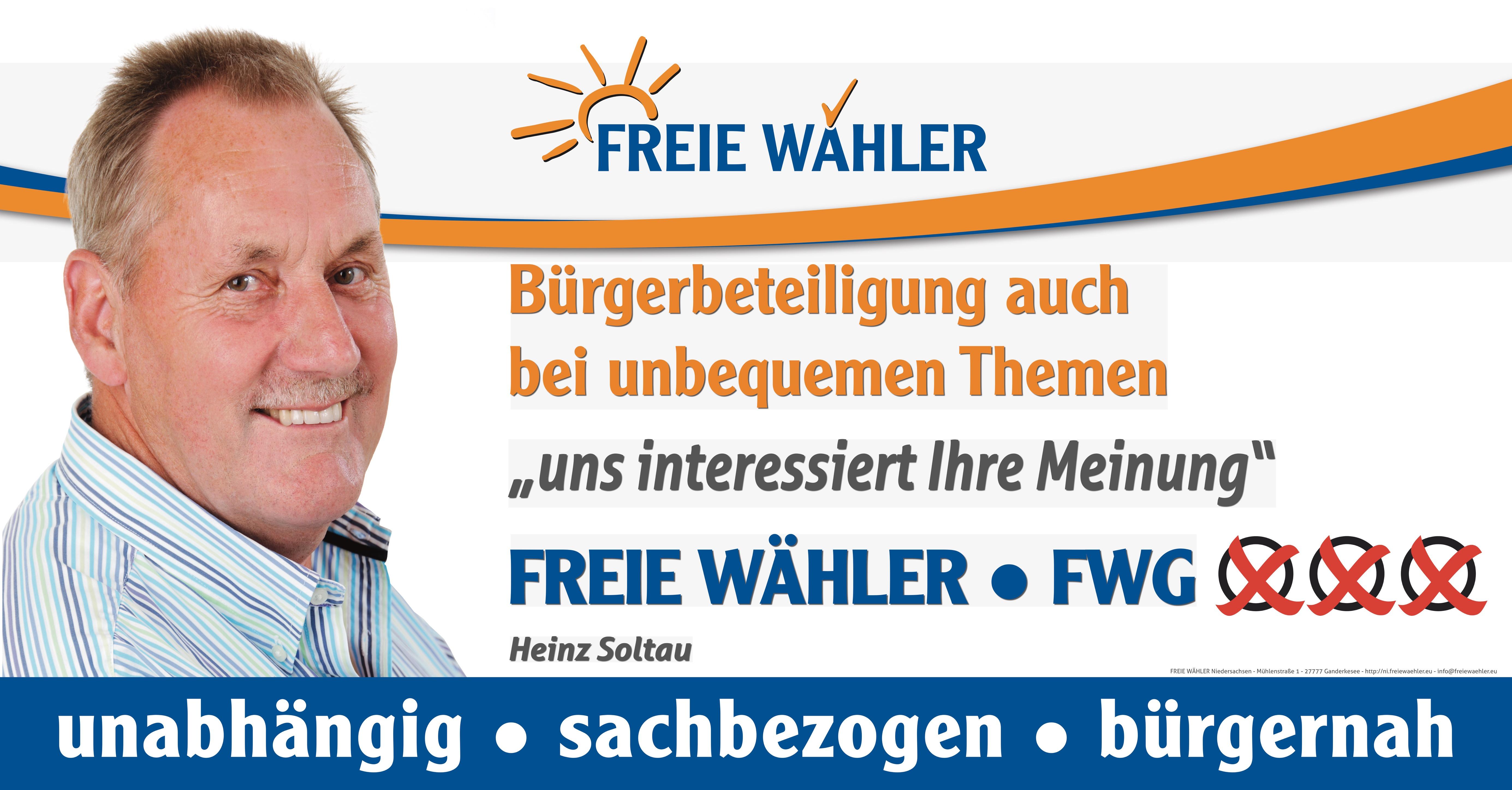 Heinz Soltau - Bürgerbeteiligung auch bei unbequemen Themen