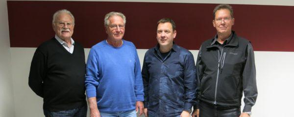 Gruppenfoto der FWG Fraktion Tespe mit Werner Zenz, Dr. Reinhard Strehlow, Ulf Riek und Michael Kühl