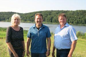 Bürgermeisterkandidaten v.l.n.r. Silvia Selka, Ulf Riek und Dirk Meyer